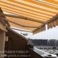 北京定制伸�s式雨篷折�B雨蓬�敉怅��_��克力遮�棚曲臂加厚�X合金店面停�棚