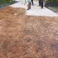 天然仿石�夯�混凝土地坪